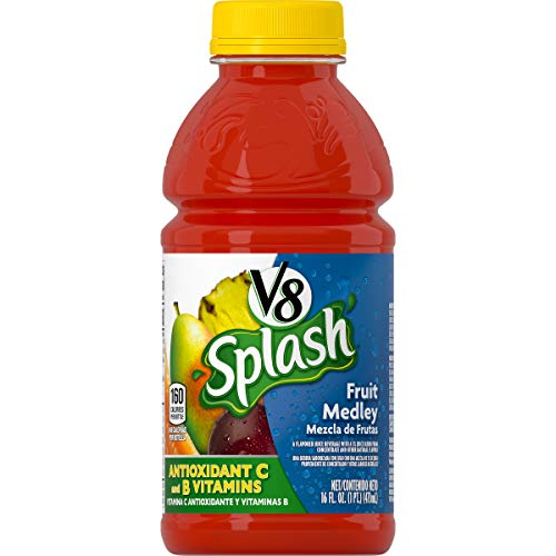 Amazon.com : V8 Splash Mango Peach, 16 oz. Bottle (Pack of 12) : Grocery & Gourmet Food