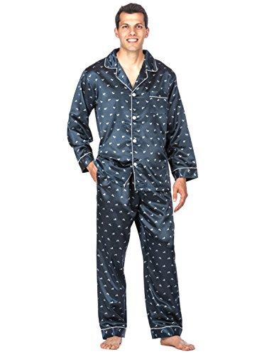 Jual Noble Mount Men s Premium Satin Pajama Sleepwear Set - Sleep ... d3bc2cf41