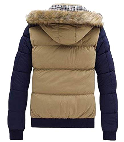 Fit Jacket Men's Warm Down Jacket Purered Slim Hooded Coat Long Sleeve Quilted Chaude Adelina Coat Thickening Down Fashion Cotton Outdoor Winter 7W6nHHzZ