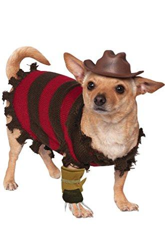 [8eighteen Nightmare on Elm Street Freddy Krueger Pet Dog Costume] (Women Freddy Krueger Costumes)