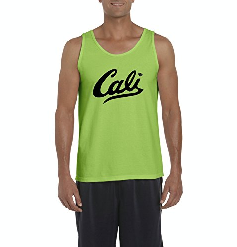 Mom's Favorite California Tank Top Cali In Black Home Of Los Angeles Hollywood Santa Monica CA Mens Tanks