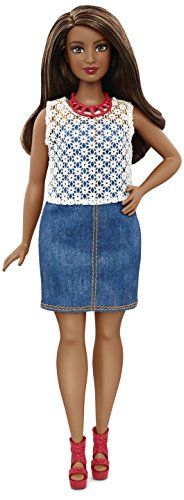 Barbie Fashionistas Doll 32 Dolled Up Denim - Curvy