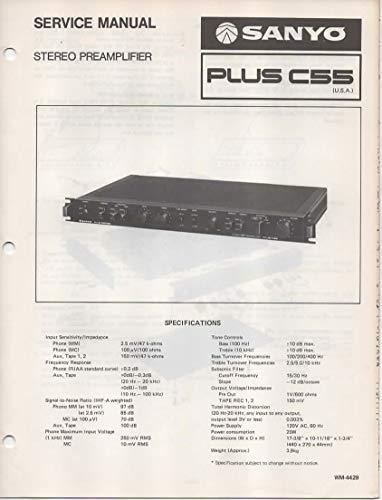 Service Manual for Sanyo PLUS C55 Stereo Premplifier Pre-Amp