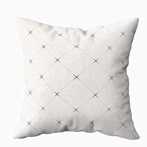 Anucky Pillow Covers,Throw Pillow Cases, Pattern Modern Stylish Texture Repeating Geometric for Your Home Printed with Fashion Pattern Soft Case for Bedroom 18x18 Inch Decorative Pillow Covers