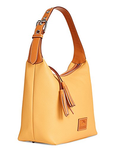 Dooney Leather Bourke Paige Taupe Hobo Sac amp; 4rg4wxqO