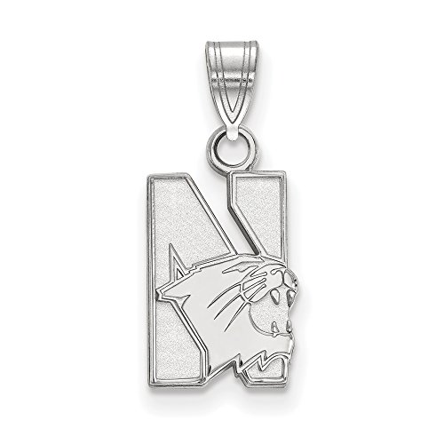 Northwestern Small (1/2 Inch) Pendant (10k White Gold) by LogoArt