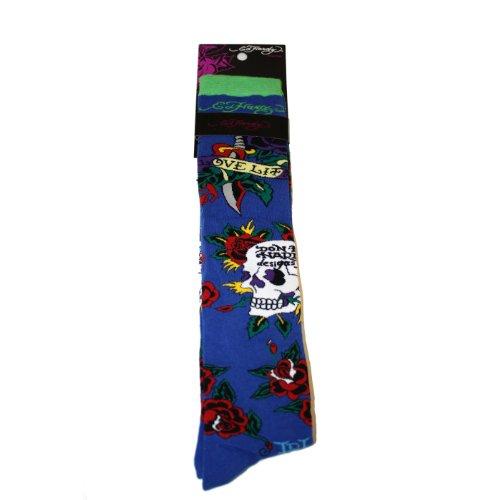 Ed Womens Roses Hardy (Ed Hardy Skull & Rose Kid's Knee High Socks - Navy)