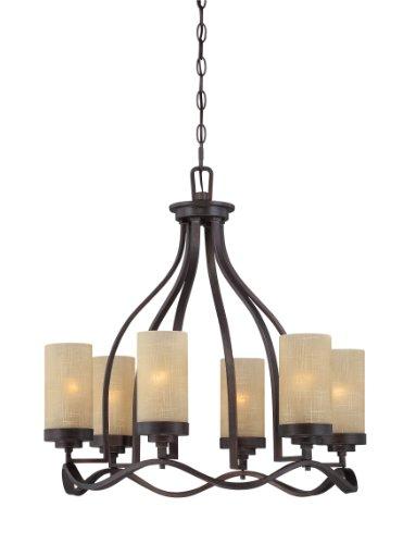 - Designers Fountain 83686-TU Castello 6 Light Chandelier