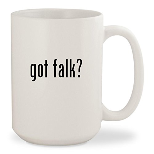 got falk? - White 15oz Ceramic Coffee Mug Cup