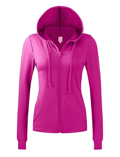 (Regna X No Bother Womens Performance Active Athletic Full Zip up Hooded Jacket)