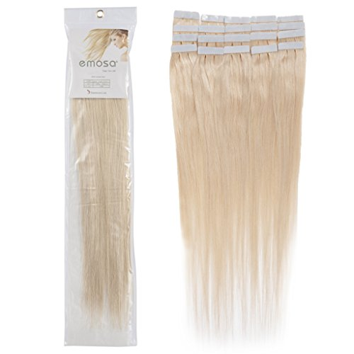 Emosa 18 inch Emosa Remy Stright Tape Skin Seamless Human Hair Extensions #60 Light Blonde 50g