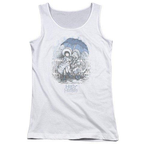 Holly Hobbie Rain Drops Juniors Tank Top Shirt WHITE LG Holly Hobbie Clothes