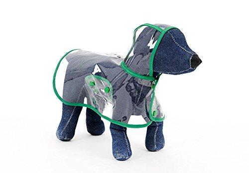 Dogalize Cane Nylon Impermeabile Ducomi® Cappottino green Poncho In Cani Xl Con Modello Green Per Cappuccio Trasparente Antipioggia 8xdpWpwSq