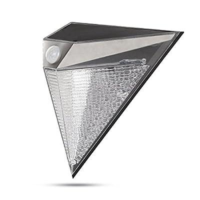 GIGALUMI Solar Lights Led Wall Light Wireless Outdoor Solar Motion Security Lighting with 3 Side Illumination