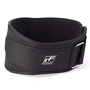 RitFit Weight Lifting Belt - Great for Squats, Clean, Lunges, Deadlift, Thrusters - Men and Women - 6 Inch - Multiple Color Choices - Firm & Comfortable Lumbar Support S(22-29'')