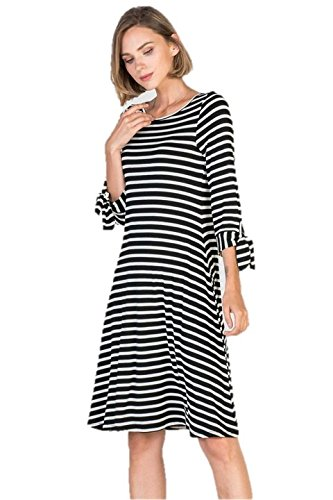 Womens Black And White Striped Dress Small At Amazon Womens