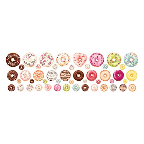 HHei_K Donut Decal, Nursery Decal New Year Christmas Children Room Decorations Cute Home Decorations, 48 Count - Special Vogue Summer
