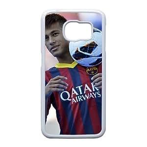 Edge caso Neymar Y4T57K8EA funda Samsung Galaxy S6 funda QB04JI blanco