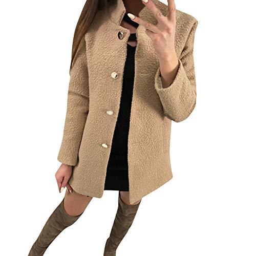 Top e Una sottile calda Maniche camicetta sola Pelliccia di da allenamento donna lana Cappotto Cebbay Choker sintetica lunghe da Camicia OYwSq