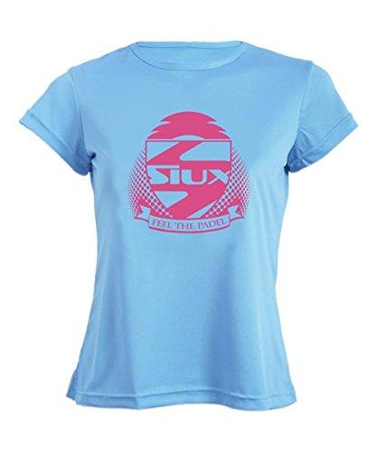 Siux Camiseta Mujer Entrenamiento Celeste