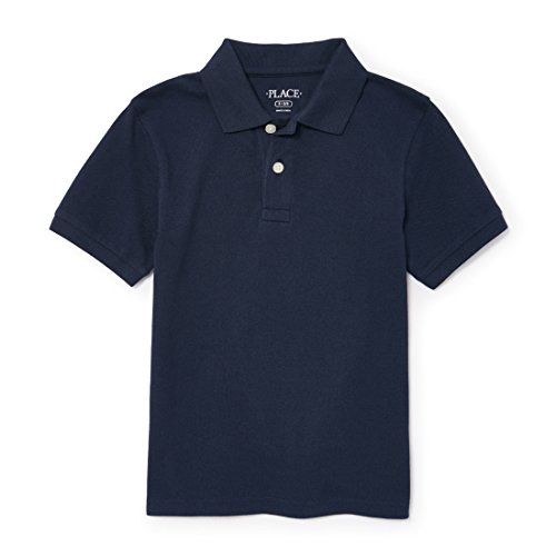 - The Children's Place Big Boys' Short Sleeve Uniform Polo, Nautico 4756, Large/10/12