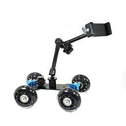 Livestream ® | 4 Wheel Tabletop Mobile Rolling Slider Dolly Car + Smartphone Clamp Mount + 11"|256|256|?|False|c9a50efbdcb51c9e5983359d18c4b8de|False|UNLIKELY|0.3045090138912201