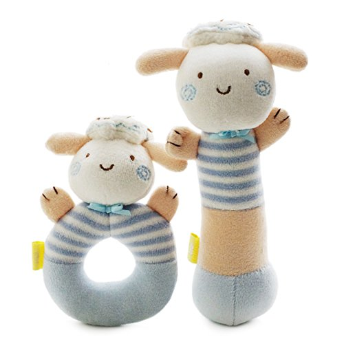 SHILOH Rattle Plush Toy Lovely Kid Children Infant Doll Intelligence Developmental Gift (Great China Sheep Plush)