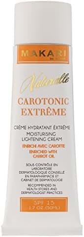 Makari Naturalle Carotonic Extreme Lightening FACE Cream 1.7oz – Moisturizing & Toning Cream with Carrot Oil & SPF 15 – Anti-Aging & Whitening Treatment for Dark Spots, Acne Scars & Wrinkles