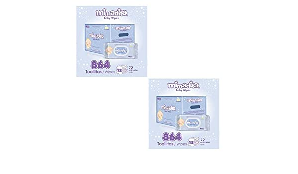Amazon.com : Mimadito Baby Wipes (Pack of 2, Count 864, Chamomile Extract) : Baby