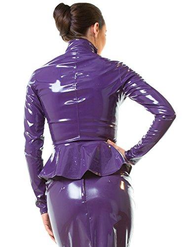 Paris Purple Peplum Violet Jacket PVC nKq6ZFvq4