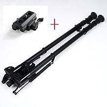 13-27 inch Long Range Hinged Base Swivel Model Rifle Bipod High Shockproof Shooting Pivot Rotating Bi-pod with QD adapter