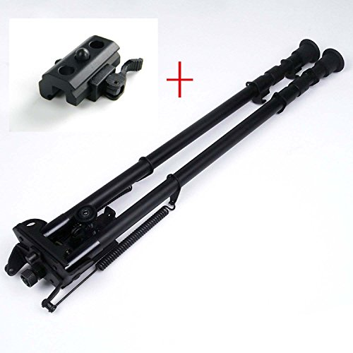 13-27 inch Long Range Hinged Base Swivel Model Rifle Bipod High Shockproof Shooting Pivot Rotating Bi-pod with QD adapter