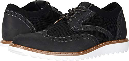 Dockers Men's Hawking Knit/Leather Smart Series Dress Casual Wingtip Oxford with NeverWet Black Knit/Nubuck 7.5 D US