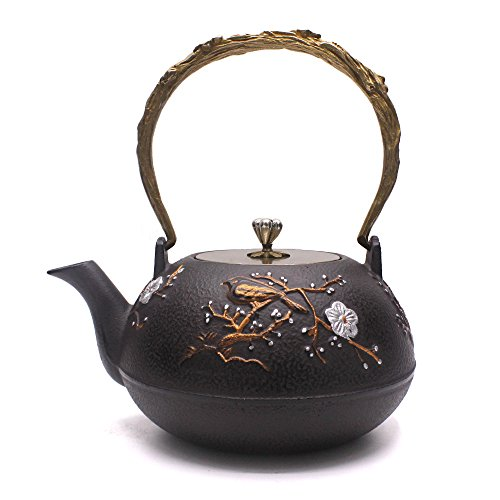 TOWA Workshop Tetsubin Iron Teapot Kettle Plum Flower 1.3L