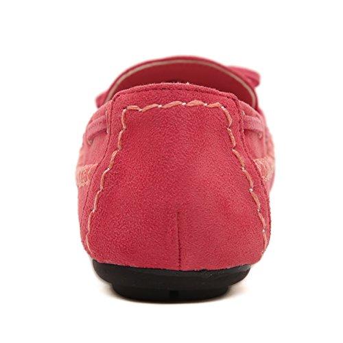 SmilunWbfj003 - Zapatillas de casa Mujer Rojo
