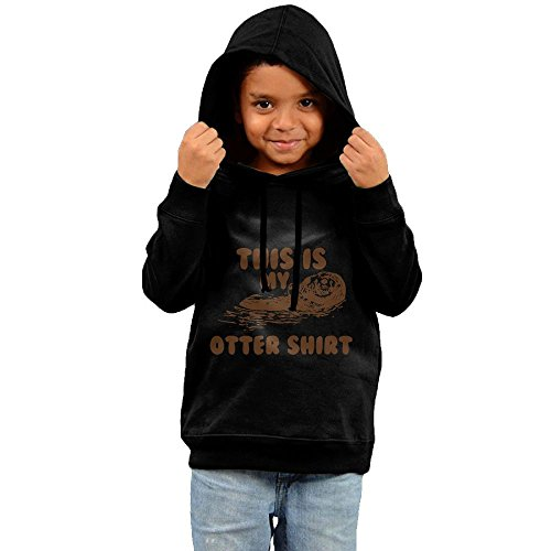 ZheuO Boys & Girls Toddler This Is My Otter Casual Style Hoodie Hooded Sweatshirt 4 Toddler Black