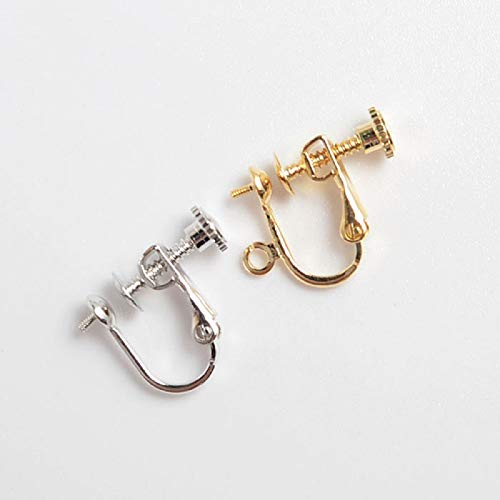 Jewelry Making Kit 2 Style Screwback Adjustable Clip On No Need Hole French Earring Hooks No Pierced Stud Jewelry Making Kit Charms