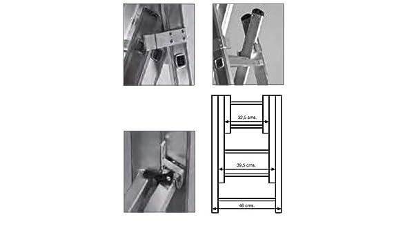 Escalera Industrial Combinada 3 Tramos 3x12 3.46 / 8.10 Mt - Profer Top - Pt1536: Amazon.es: Instrumentos musicales