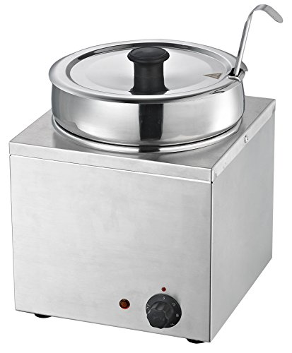 (Chef's Supreme - 7 qt. Round Stainless Food Warmer w/Insert and Lid)