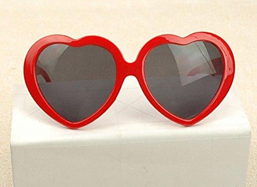 Plaque rouge Lady Gris De Forme En nbsp;fashion Lunettes Cœur Soleil Yeah67886 q4wCvt7