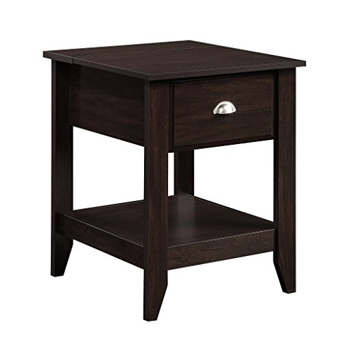 Night And Day Furniture End Table - Sauder 422196 Shoal Creek Smart Center Side Table, Jamocha Wood Finish