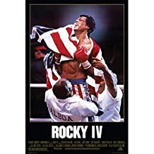 Rocky IV Movie (Sylvester Stallone with Flag) Poster Print - 24x36