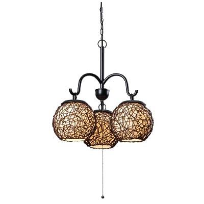 Kenroy Home 93403BRZ Castillo 3-Light Outdoor Chandelier, Blackened Bronze Finish