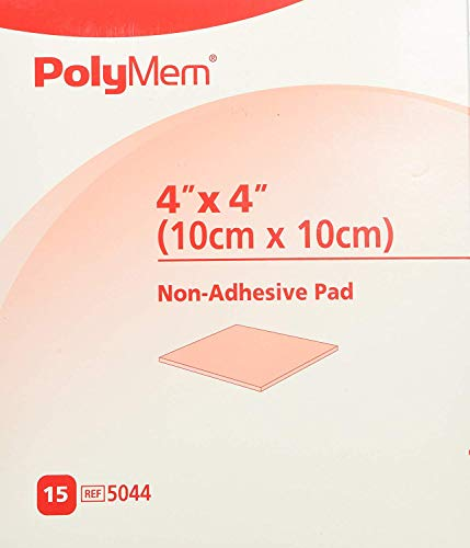(PolyMem Cloth Wound Dressings, Non-Adhesive, 4