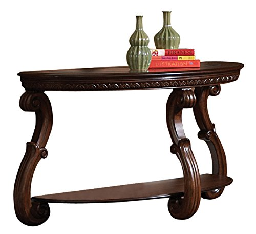 (Homelegance Cavendish Sofa Table, Warm Cherry )