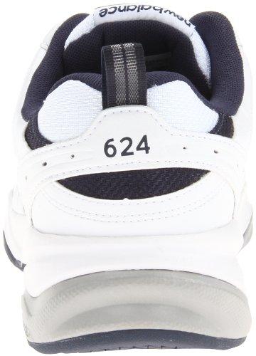 New Balance Men's 624 V2 Casual Comfort Cross Trainer, White/Navy, 18 M US