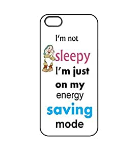 FUNNY QUOTES Iphone 5/5S Hard Plastic Protective Case Cover Black case - By En Vougue