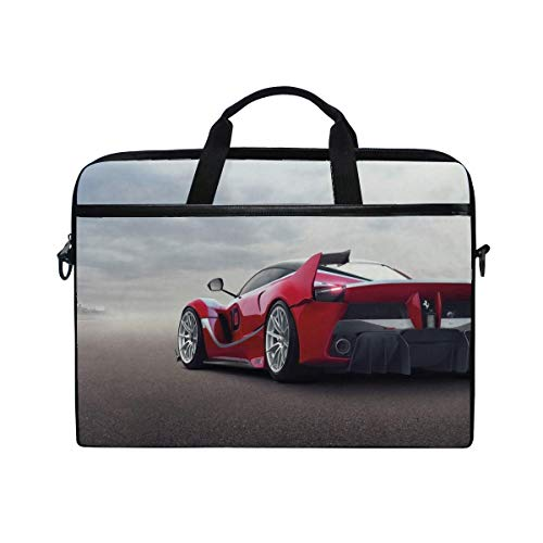 Ferrari Fxx K Ferrari Hypercar Rear View Wings Laptop Shoulder Messenger Bag Case Sleeve for 14 Inch to 15.6 Inch with Adjustable Notebook Shoulder -