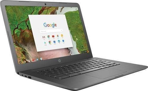 "2019 HP 14"" HD Touchscreen Chromebook Laptop PC, Intel Celeron N3350 Processor, 4GB DDR4 RAM, 32GB eMMC, 802.11ac, Bluetooth, USB-C 3.1, No DVD, Chrome OS ( Grey)"