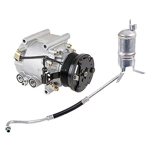 AC Compressor w/A/C Drier For Jaguar X-type 2002 2003 2004 2005 - BuyAutoParts 60-86013R2 New -